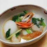 大根と竹輪と里芋と小松菜の煮物
