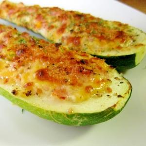 ズッキーニのチーズマヨボート