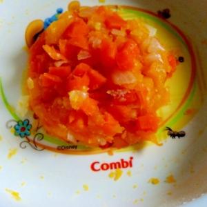 離乳食☆にんじんとたまねぎとかぼちゃのチーズサラダ