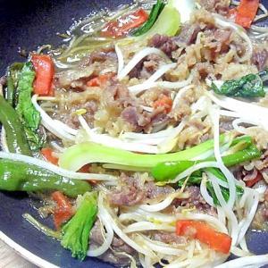 牛肉と野菜の焼き肉のタレ炒め