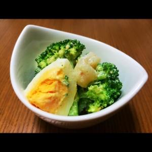 ブロッコリーと海老の卵サラダ