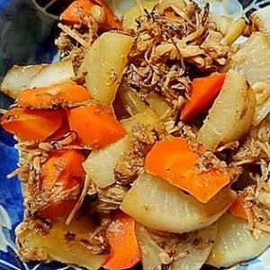 大根と人参のツナとえのきの炒め煮