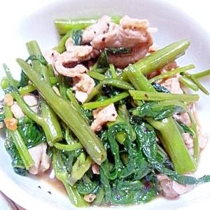 空芯菜と豚肉のオイスターソース炒め