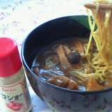 カレーの残りで、たまには・・和風カレーラーメン。