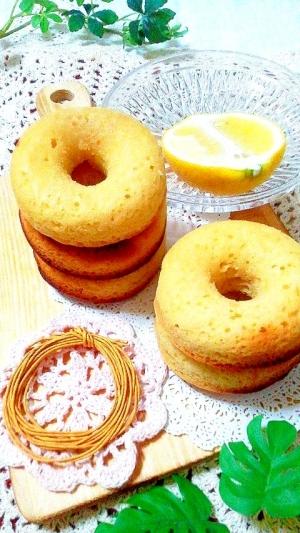 ホットケーキミックスdeレモン風味♪焼きドーナッツ