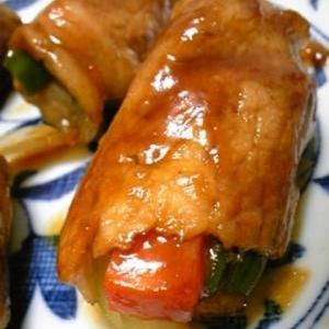 野菜の照り焼き肉巻き