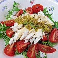 鶏ささみと夏野菜のサラダ