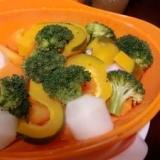 シリコンスチーマーでヘルシー蒸し野菜
