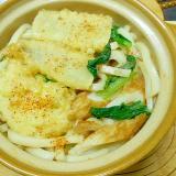 あなごの天ぷらと小松菜・竹輪のうどん