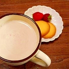 黒糖☆いちごホットミルク