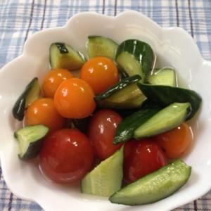きゅうりとプチトマトの簡単ピクルス♪
