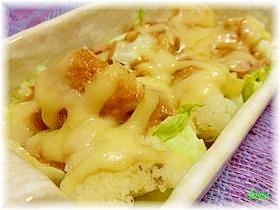 カリフラワーとキャベツの味噌マヨ焼き