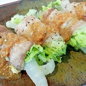 レンジで5分☆豚肉の白菜巻き
