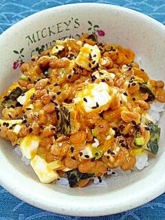 納豆の食べ方-かぼちゃ&クリームチーズ♪