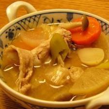 菊芋入り豚汁