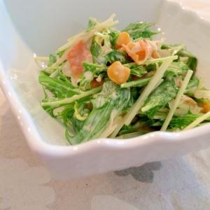 デリ風☆ゴボウと水菜の柚子胡椒マヨサラダ