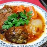 圧力鍋で牛肉と野菜のトマト煮込み