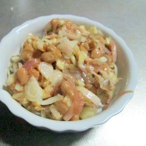 おつまみや温かい御飯にお勧め♪ミョウガ味噌納豆