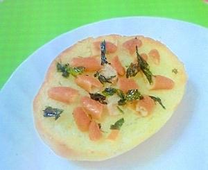 主食?おつまみ?香ばし柿の種トースト