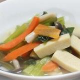 小松菜と高野豆腐の煮びたし