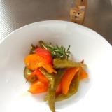 万願寺唐辛子とトマトの簡単ピクルス