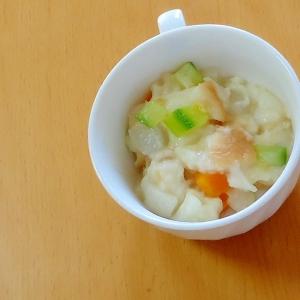食欲がない時に、野菜スープのパンリゾット