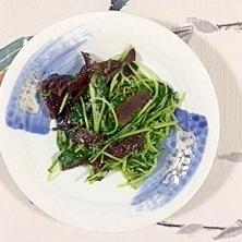【中華ごま】豆苗、水菜の炒め物