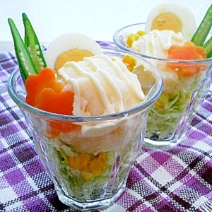 ポテトサラダde野菜パフェ