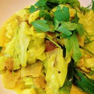 野菜と豚のターメリック炒め