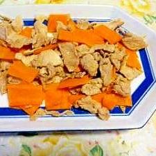 豚肉とにんじんの炒め物