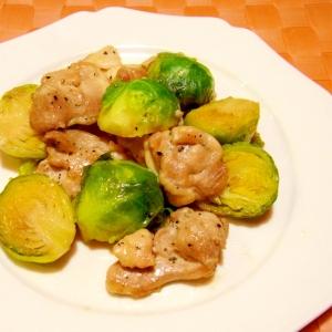 芽キャベツと鶏肉のソテー