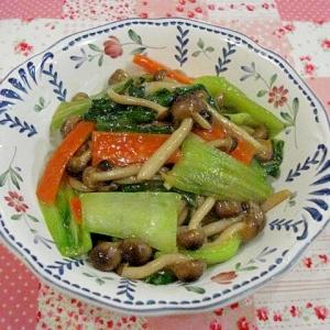 鶏がら塩糀スープの素 チンゲン菜の炒め物