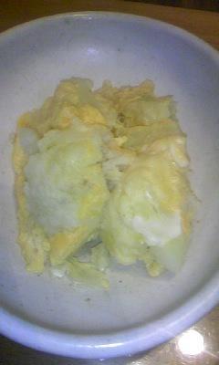 カリフラワーの卵とじ♪