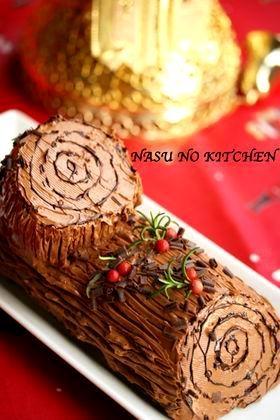 【ブッシュド・ノエル】クリスマスケーキ☆