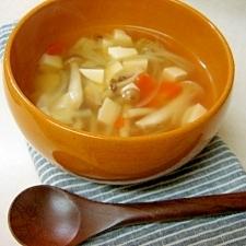 きのこと野菜のコンソメスープ