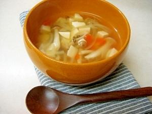 *きのこと野菜のコンソメスープ*