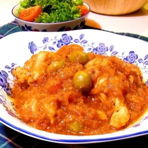 チキンとオリーブのトマト煮込み