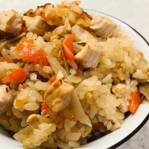 簡単♪ごぼうと鶏肉の炊き込みご飯