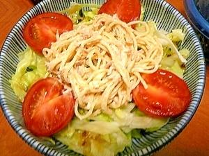簡単♪ツナマヨスパゲティサラダ