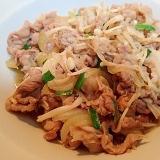 麺つゆで ❤豚タマえのきニラ炒め❤