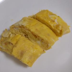 味噌とかつお節の卵焼き