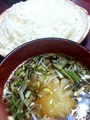 鶏天つゆdeもり素麺【がっつり納涼メニュー】
