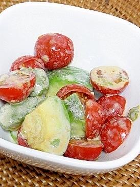 アボカド*トマトの和風サラダ
