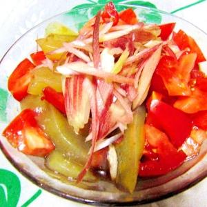刺身蒟蒻をバルサミコ酢のドレッシングで~♪