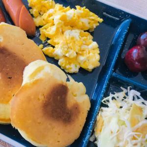 簡単*パンケーキの朝食プレート