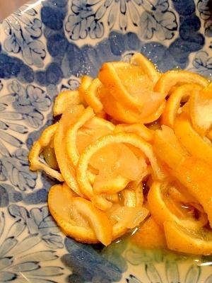 柚子と砂糖だけで簡単おやつ