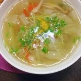 野菜たーっぷり!食べる和風スープ