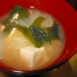 白菜・豆腐・ワカメの味噌汁