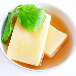 酒やみりんを使わず 高野豆腐の含め煮