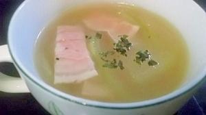 ベーコンととうがんのスープ